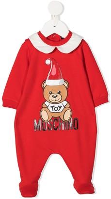 MOSCHINO BAMBINO Teddy Bear logo-print pajamas