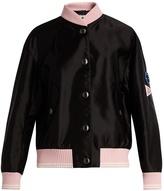 Miu Miu Sleeve-appliqué bomber jacket