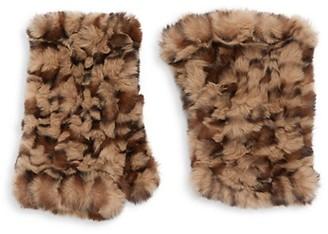 Saks Fifth Avenue Leopard-Print Faux Fur Gloves