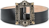 Alexander McQueen embellished buckle belt - women - Leather/Plastic/Metal (Other) - 75