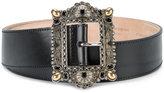 Alexander McQueen embellished buckle belt