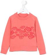 Max & Lola - kiss print sweatshirt - kids - Cotton - 4 yrs