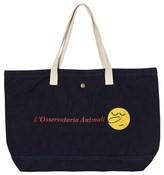 The Animals Observatory Canvas Tote Bag Deep Blue Round Face