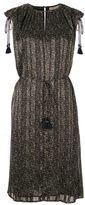 MICHAEL Michael Kors Khaki Floral Print Tassels Dress