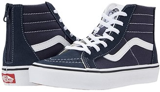 Vans Kids Sk8-Hi Zip (Little Kid) (India Ink/True White) Boy's Shoes