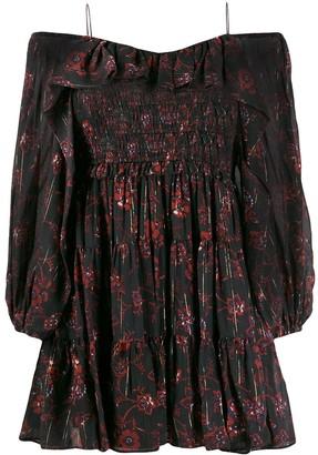 Ulla Johnson Off Shoulder Floral Dress
