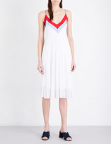 Sandro V-neck knitted dress