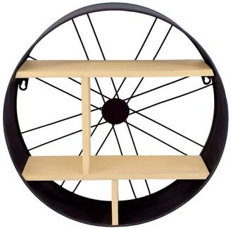 Nobia Wheel Spokes Decorative Wall Shelf