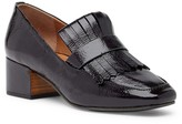 Ethan Block Heel Leather Loafer
