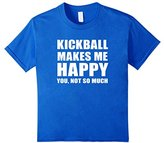 Kids Kickball Makes Me Happy T-shirt, Kicball Set Funny Tee 4