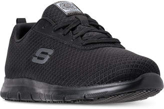 Skechers Women Work Relaxed Fit: Ghenter - Bronaugh Slip Resistant Athletic Work Sneakers from Finish Line