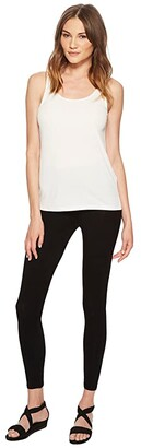 Eileen Fisher System Viscose Jersey Leggings (Black Viscose Jersey) Women's Casual Pants