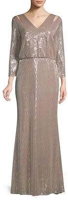 Calvin Klein Cutout Blouson Gown