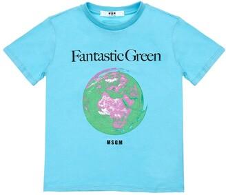 MSGM Printed Organic Cotton T-Shirt