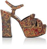 Saint Laurent Women's Candy Brocade Platform Sandals