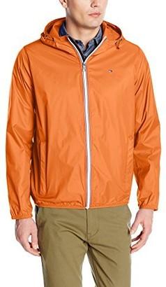Tommy Hilfiger Men's Lightweight Hooded Packable Windbreaker Jacket