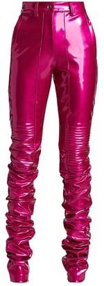 LaQuan Smith Vinyl PVC Moto Pants