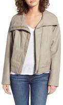 Bernardo Women's Wing Collar Faux Leather Moto Jacket