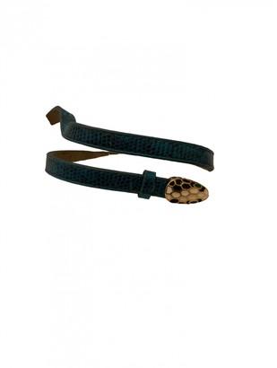 Bvlgari Green Leather Bracelets