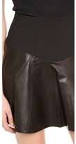Tibi Leather Flirty Skirt