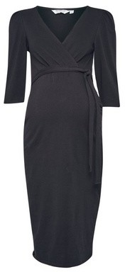 Dorothy Perkins Womens Dp Maternity Black Wrap Dress, Black