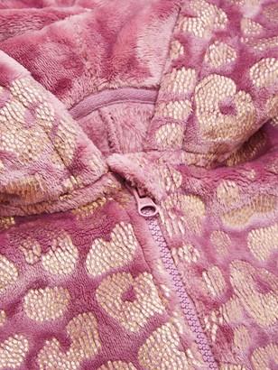 Very Girls Foil Leopard Print All In One - Purple