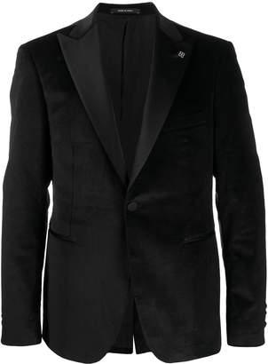 Tagliatore satin-trimmed jacket