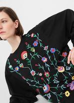 MANGO Floral Embroidered Sweatshirt