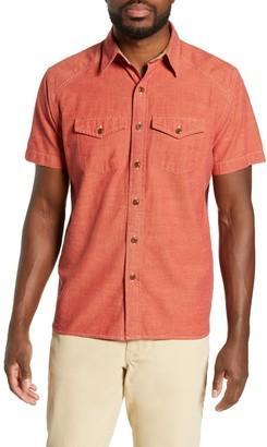 Frye Addison Chambray Woven Regular Fit Shirt
