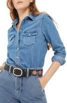Topshop Petite Women's Western Denim Shirt