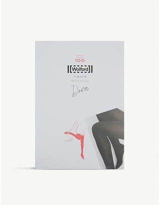 Wolford Dora metallic shimmer 100 denier tights