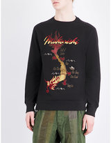Maharishi Dragon-embroidered Cotton Jumper