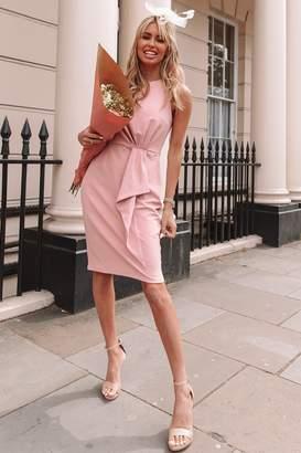 Paper Dolls Motcomb Pink Pleat Detail Pencil Dress