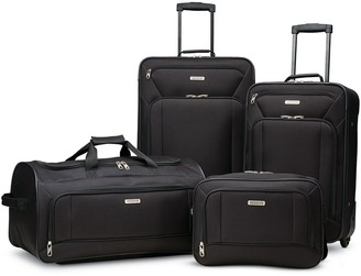 American Tourister Fieldbrook XLT 4-Piece Wheeled Luggage Set with Boarding Bag
