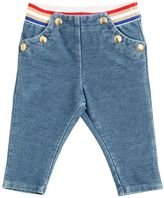 Little Marc Jacobs Denim Effect Cotton Fleece Pants