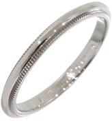 Tiffany & Co. 950 Platinum Milgrain Wedding Band Ring Size 5.75