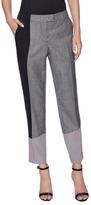 Fendi Silk Colorblock Crop Pant