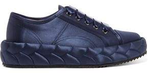 Marco De Vincenzo Quilted Satin Sneakers