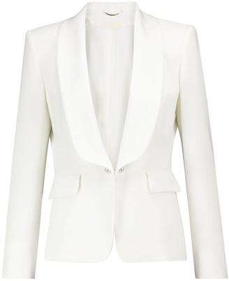 MAX MARA Women/'s Asturie Pink Cotton Blend Snap Button Blazer $525 NWT