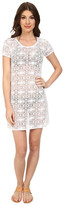 Tommy Bahama Crochet Lace Short T-Shirt Dress Cover-Up