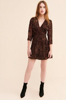 Urban Outfitters Paige Velvet Burnout Wrap Dress
