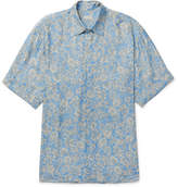 Dries Van Noten Cheshir Oversized Floral-Print Voile Shirt