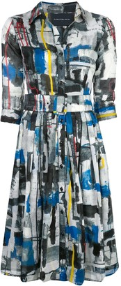 Samantha Sung Audrey abstract print dress