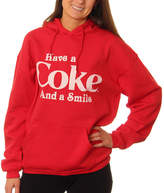 Asstd National Brand Coca-Cola Juniors' Have a Coke and a Smile Pullover Graphic Hoodie