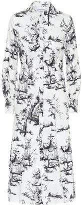Erdem Penley printed cotton shirt dress