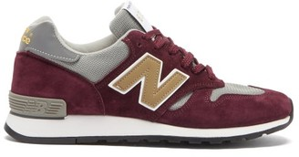 New Balance Made In Uk 670 Suede And Mesh Trainers - Burgundy/grey