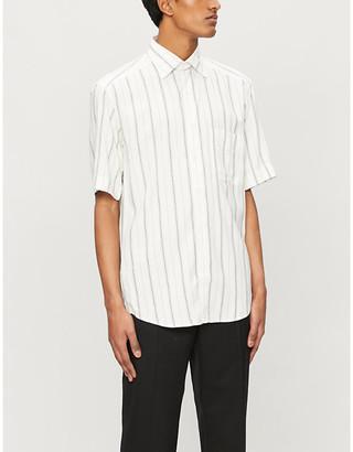 Sandro Oversized stripe short-sleeve shirt