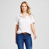 Merona Women's Short Sleeve Favorite Shirt White Multi