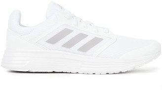 adidas Galaxy 5 Faux Leather-trimmed Mesh Sneakers
