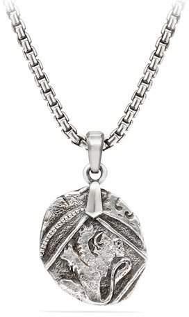 David Yurman Men's 23mm Sterling Silver Shipwreck Coin Enhancer